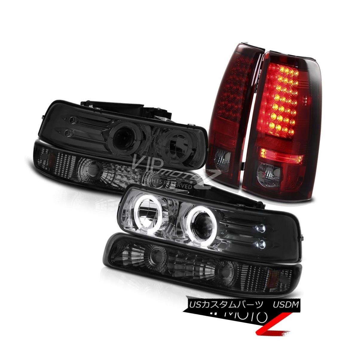 ヘッドライト 1999-2002 Silverado LS Tinted Halo Headlight Smoked Bumper Dark Brake Taillights 1999-2002シルヴァードスLSハーフヘッドライトスモークバンパーダークブレーキテールライト