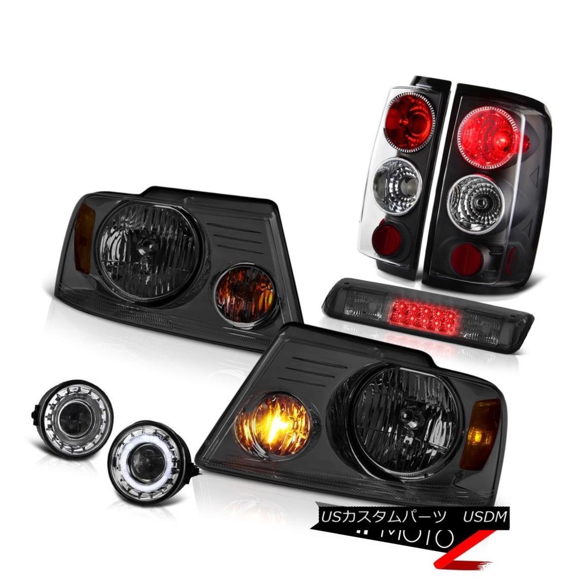 ヘッドライト 2006-2008 Ford F150 FX4 Fog Lamps Roof Brake Lamp Headlamps Inky Black Tail LED 2006-2008フォードF150 FX4フォグランプルーフブレーキランプヘッドランプインキブラックテールLED