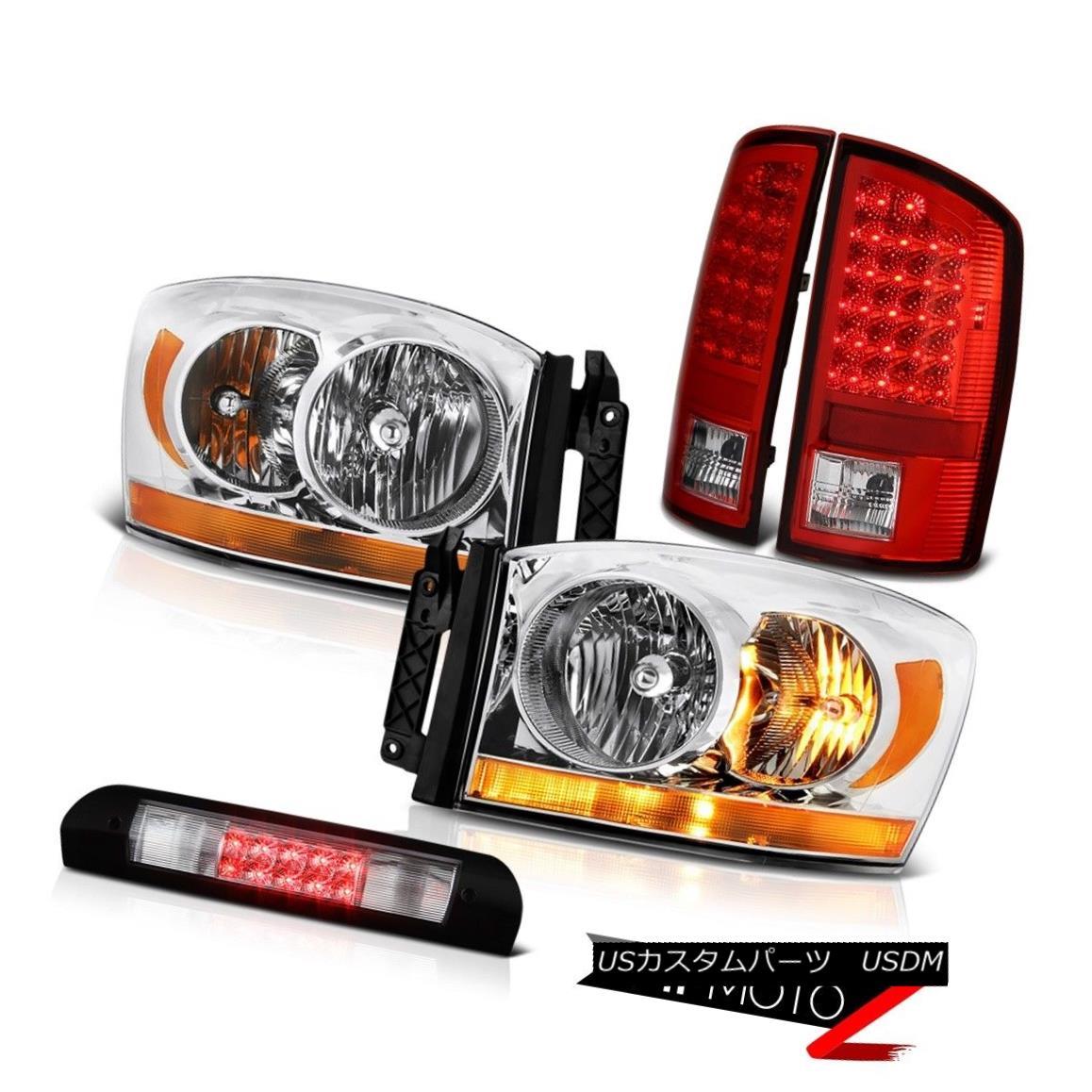 ヘッドライト 2007-2008 Dodge Ram 1500 Ws Headlights Roof Cargo Lamp Bloody Red Tail Lights 2007-2008ダッジラム1500 Wsヘッドライト屋根カーゴランプブラッディレッドテールライト