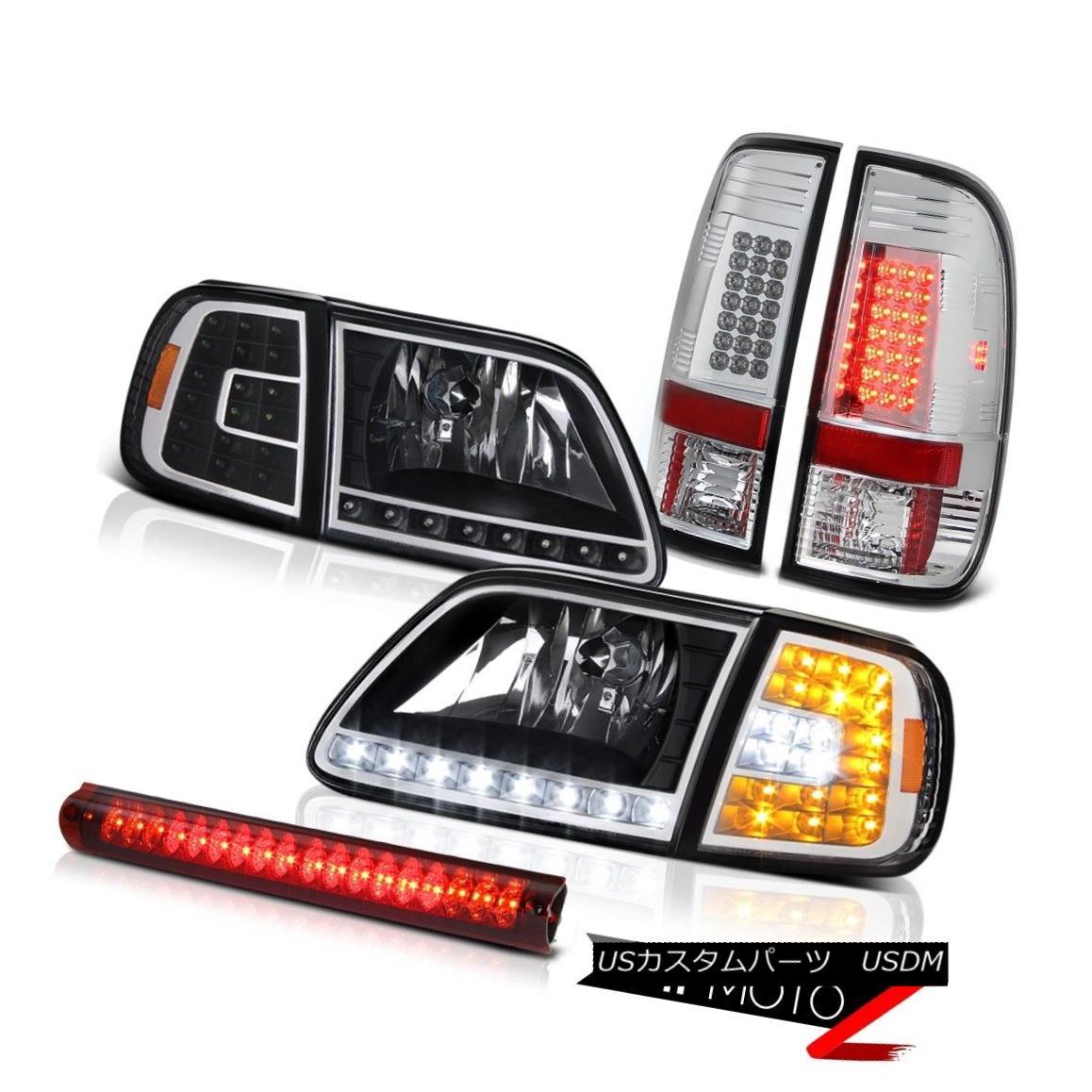 ヘッドライト 1997-2003 F150 King Ranch LED Corner+Headlights Chrome Taillamps Roof Brake Red 1997-2003 F150キングランチLEDコーナー+ヘッドリッグ hts Chrome Taillampsルーフブレーキレッド