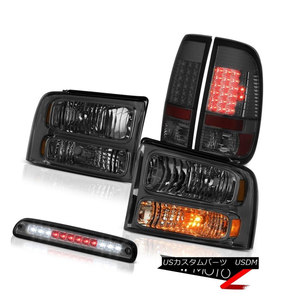 ヘッドライト 2005-2007 F350 7.3L Left Right Smoke Headlights Rear Brake Tail Lights 3rd LED 2005-2007 F350 7.3L左スモークヘッドライトリアブレーキテールライト第3 LED