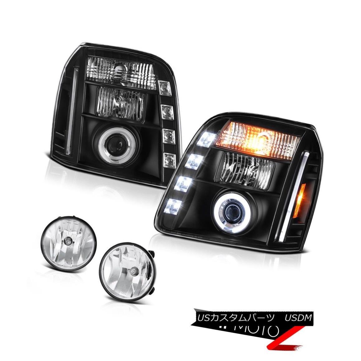 ヘッドライト 2007-2014 GMC Yukon XL Denali Euro Clear Fog Lights Nighthawk Black Headlamps 2007-2014 GMC Yukon XLデナリユーロクリアフォグライトナイトホークブラックヘッドランプ