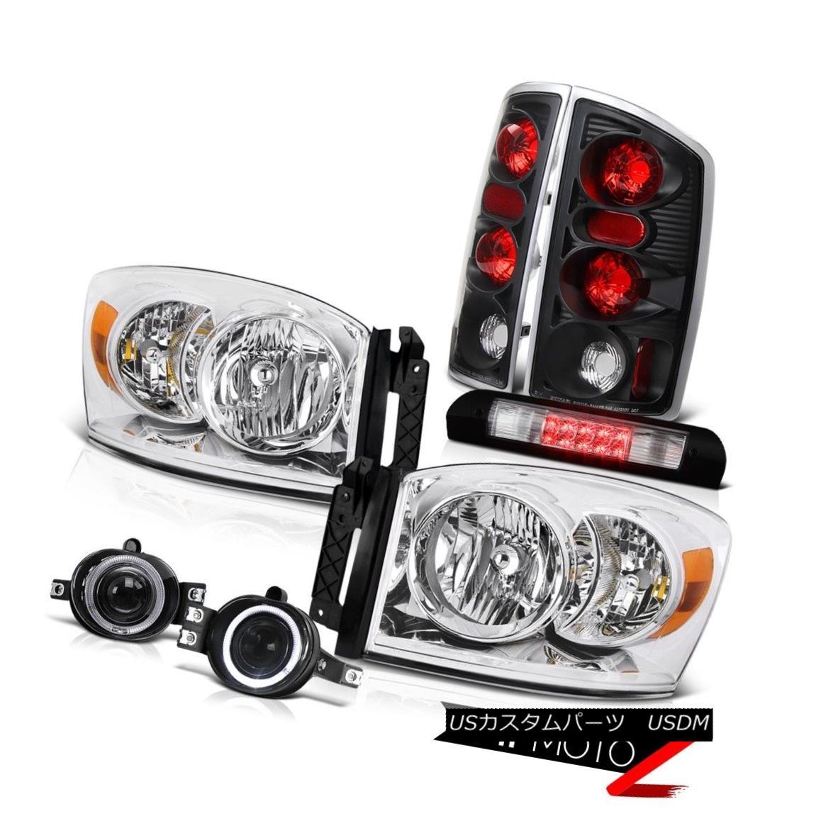 ヘッドライト Clear Headlamps Tail Brake Lights Projector Foglights Third Cargo LED 06 Ram ST クリアヘッドランプテールブレーキライトプロジェクターフォグライト第3貨物LED 06 Ram ST