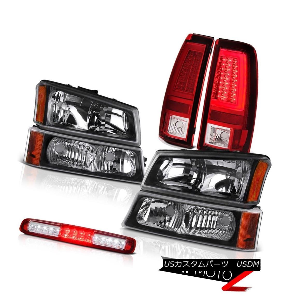 ヘッドライト 03-06 Silverado Red Taillamps Inky Black Headlamps High Stop Lamp