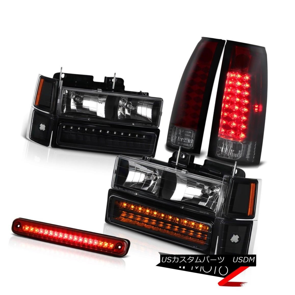 ヘッドライト 1994-1998 Chevrolet CK 1500 2500 3500 Red LED 3RD Cargo Tail Lights Headlights 1994-1998 Chevrolet CK 1500 2500 3500レッドLED 3RDカーゴテールライトヘッドライト