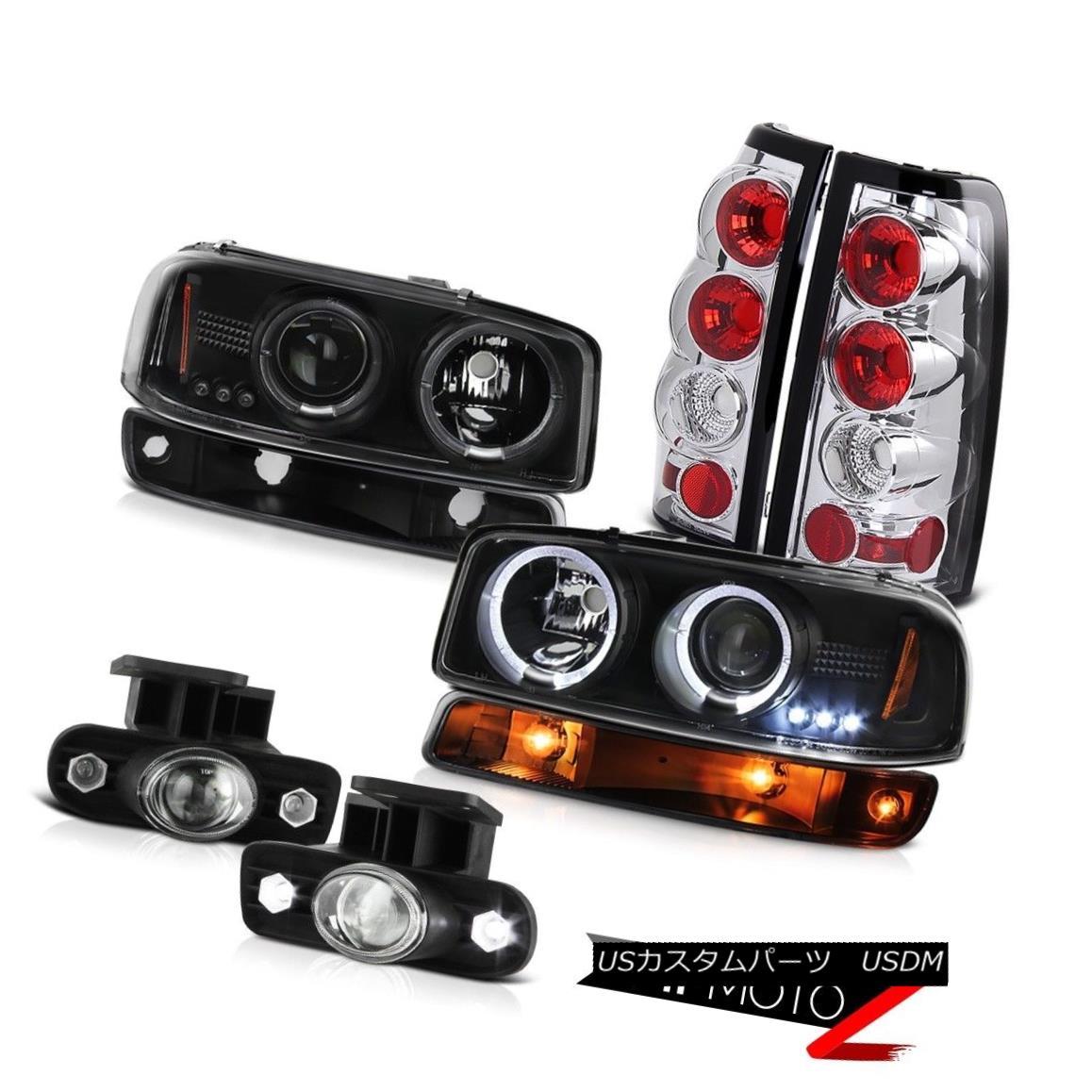 ヘッドライト 99-02 Sierra 2500 Clear chrome fog lights taillamps parking lamp headlights LED 99-02 Sierra 2500クリアクロームフォグライトテールランプパーキングランプヘッドライトLED