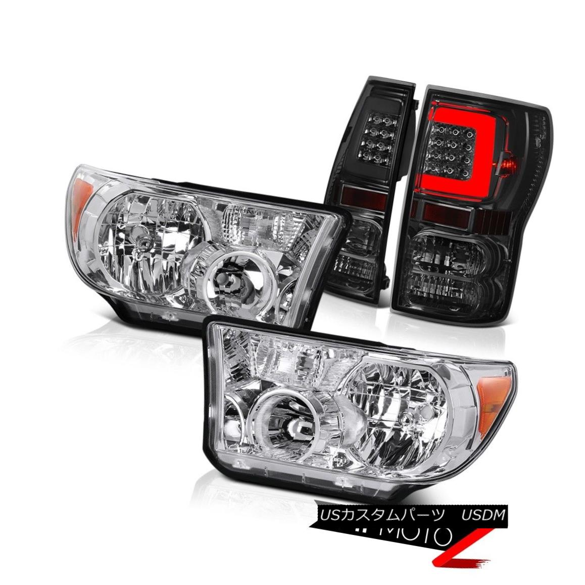 ヘッドライト 07-10 11 12 13 Toyota Tundra Neon Tube Rear Euro Chrome Head Lamps Replacement 07-10 11 12 13トヨタトンドラネオンチューブリアユーロクロームヘッドランプの交換