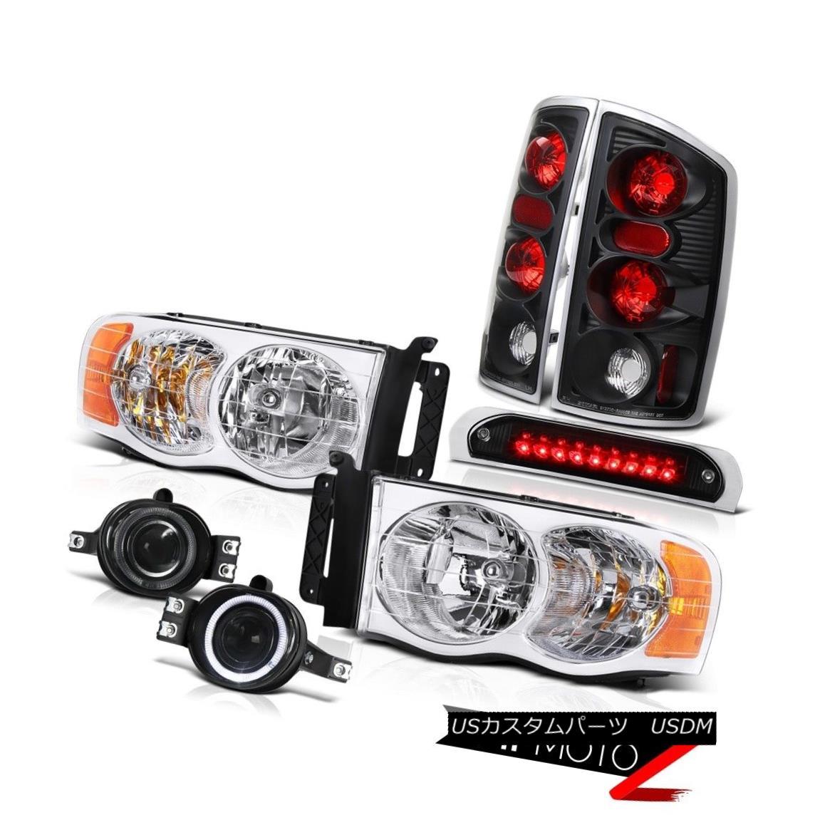 ヘッドライト 2002-2005 Ram 1500 Headlight Rear Signal Brake Light Fog Roof Stop LED Black 2002-2005ラム1500ヘッドライトリアシグナルブレーキライトフォグルーフストップLEDブラック