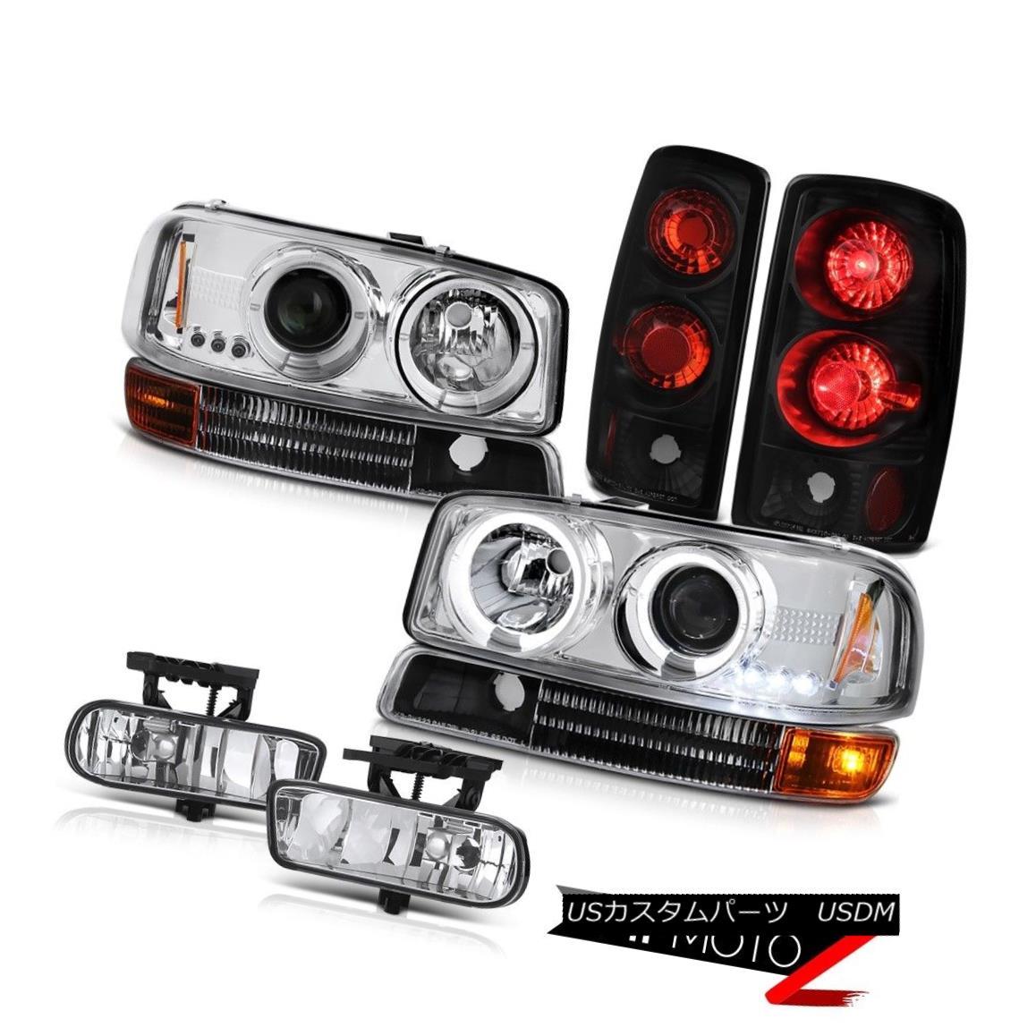 ヘッドライト Crystal Halo LED Headlights Signal Bumper Taillights FogLight 00-06 Yukon GMT800 クリスタルハローLEDヘッドライト信号バンパーテールライトFogLight 00-06ユーコンGMT800