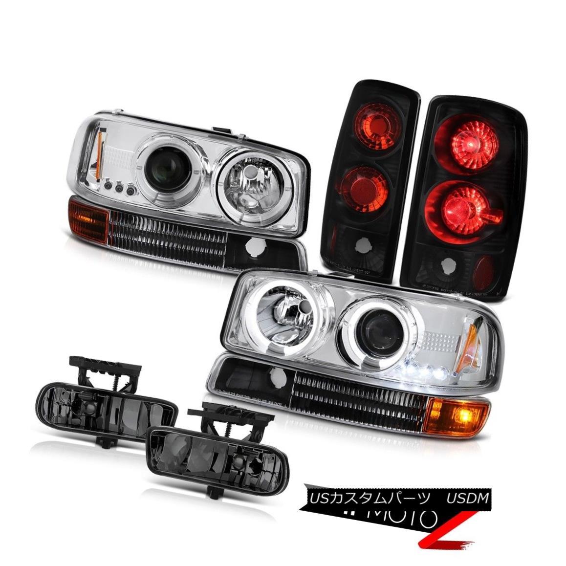 ヘッドライト Halo Rim Headlights Smoke Clear Tail Lamps Driving FogLights 2000-2006 GMC Yukon Haloリングヘッドライトスモークテールランプスモークライト2000-2006 GMC Yukon