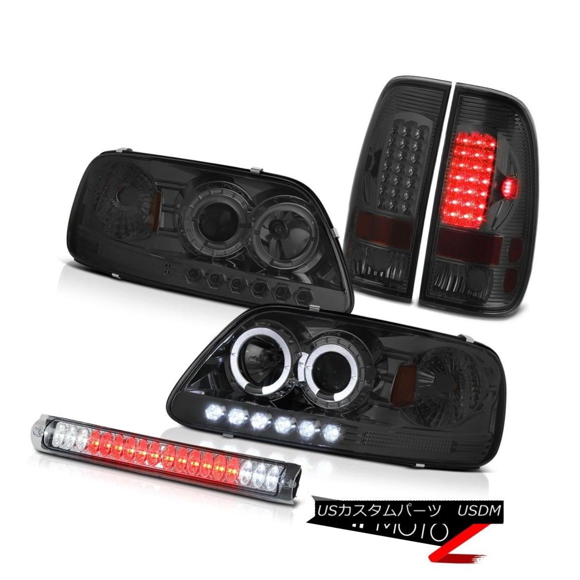 ヘッドライト Headlight Halo DRL LED Dark Brake Tail Lights Chrome Third 1997 1998 F150 Triton ヘッドライトHalo DRL LEDダークブレーキテールライトクロームThird 1997 1998 F150 Triton