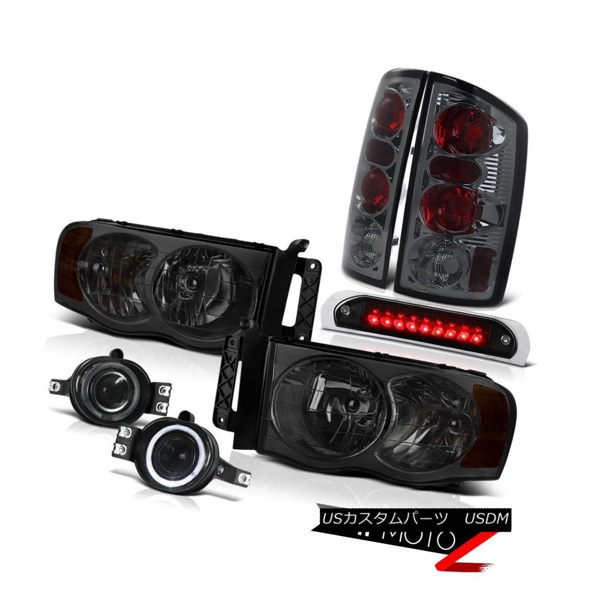 ヘッドライト 02 03 04 05 Ram V8 Smoke Tinted Headlamps Altezza Tail Lamps Fog Third Brake LED 02 03 04 05 Ram V8煙がかかったヘッドランプAltezzaテールランプ霧第3ブレーキLED