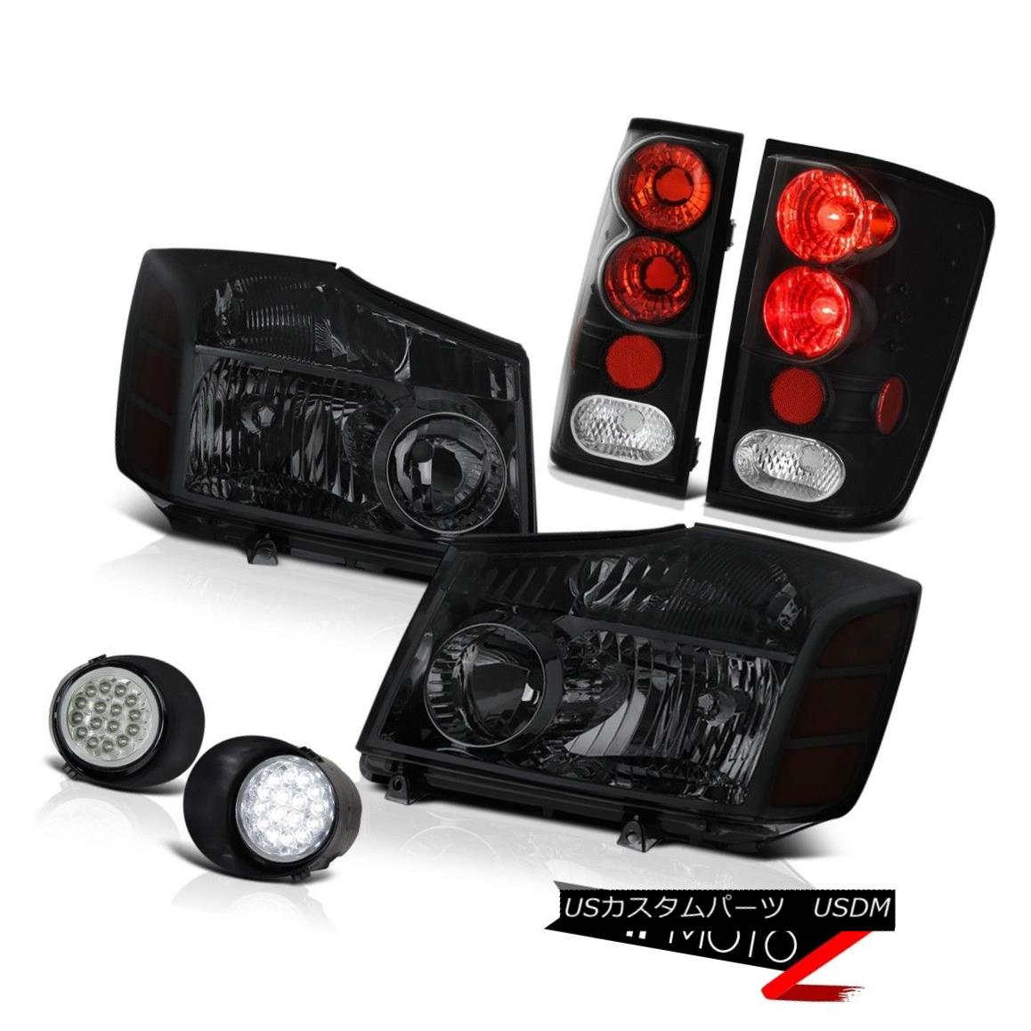 ヘッドライト For 2004-2015 09 10 11 Titan S Tinted Headlight Headlamp Tail Light SMD LED Fog 2004年?2015年09 10 11タイタンSヘッドライトヘッドライトテールライトSMD LEDフォグ