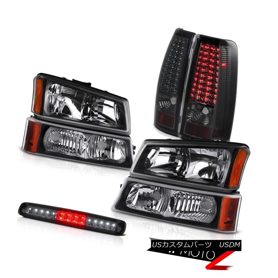 ヘッドライト 03-06 Silverado 2500Hd Bumper Light Dark Smoke 3RD Brake Headlamps Tail Lamps 03-06 Silverado 2500Hdバンパーライトダークスモーク3RDブレーキヘッドランプテールランプ
