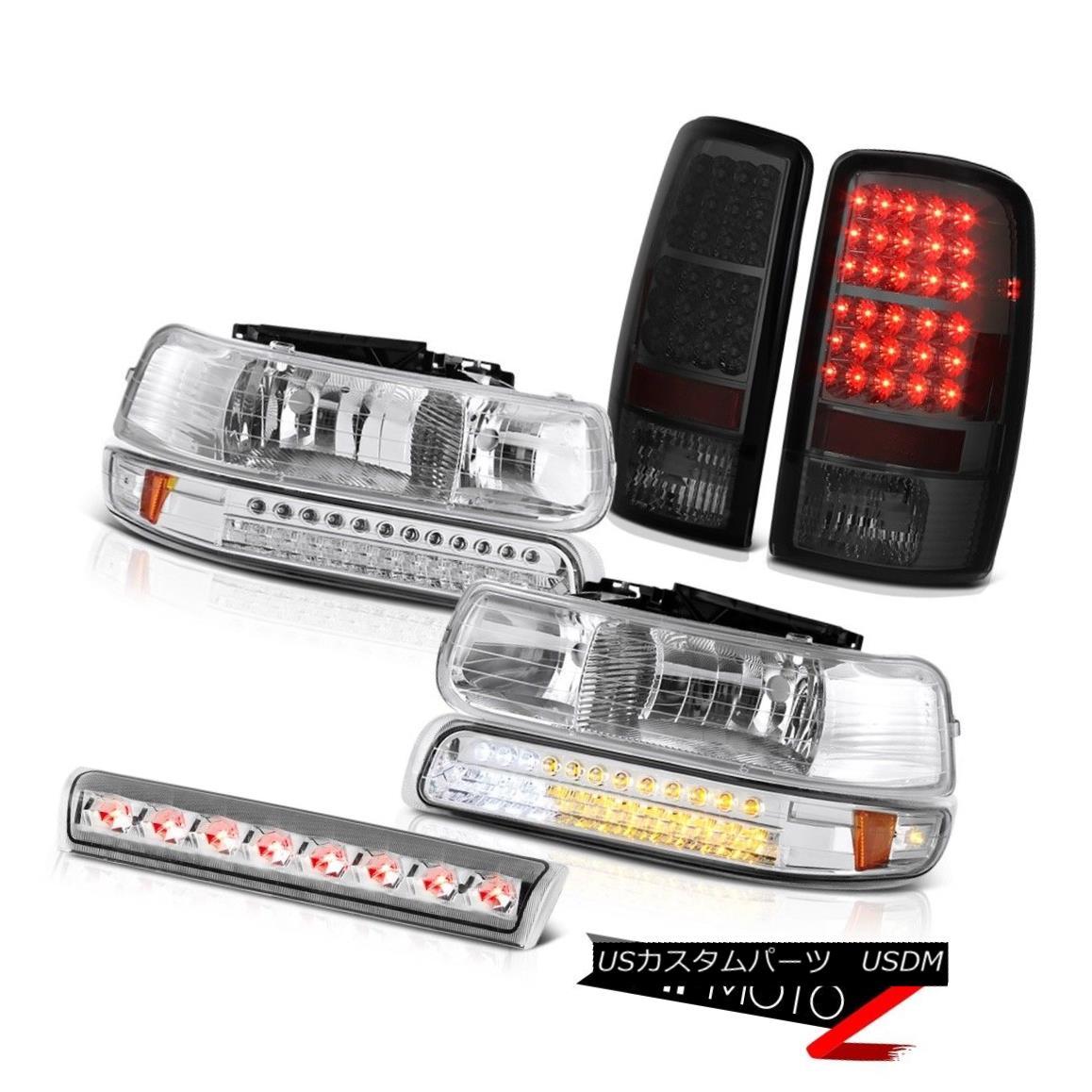 ヘッドライト 2000-2006 Suburban 5.7L Parking Headlight Smoke Taillights LED Euro Third Brake 2000-2006郊外5.7LパーキングヘッドライトスモークティアライトLEDユーロサードブレーキ