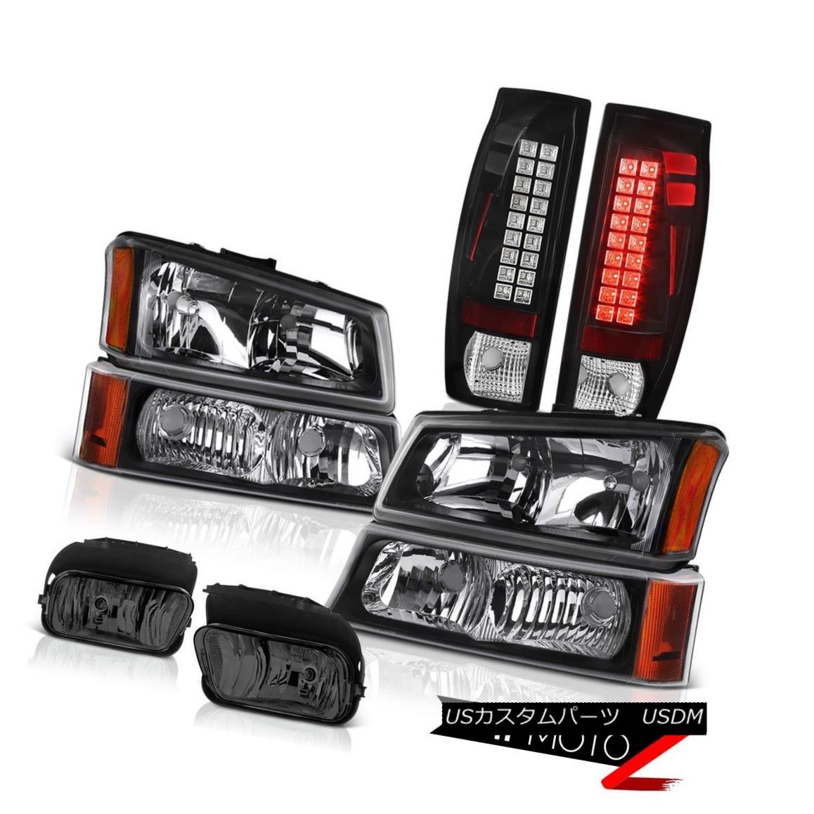 ヘッドライト 2003-2006 Avalanche 2500 Fog Lights Matte Black Tail Lamps Headlights Assembly 2003-2006アバランチ2500フォグライトマットブラックテールランプヘッドライトアセンブリ