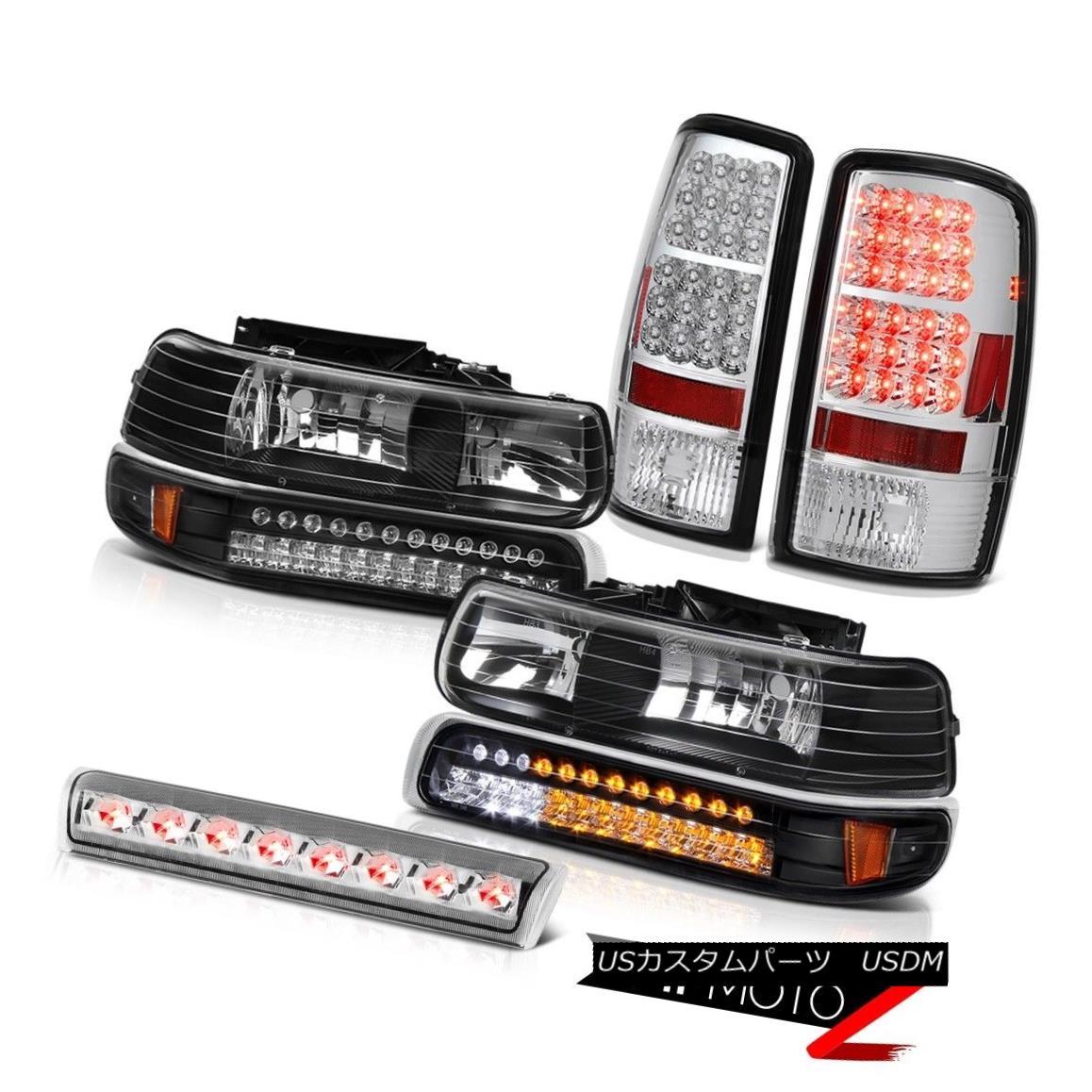 ヘッドライト 00-06 Tahoe 5.3L DRL Bumper+Headlamps Bright LED Tail Lights Euro Third Brake 00-06 Tahoe 5.3L DRLバンパー+ヘッドラム ps明るいLEDテールライトユーロ第3ブレーキ