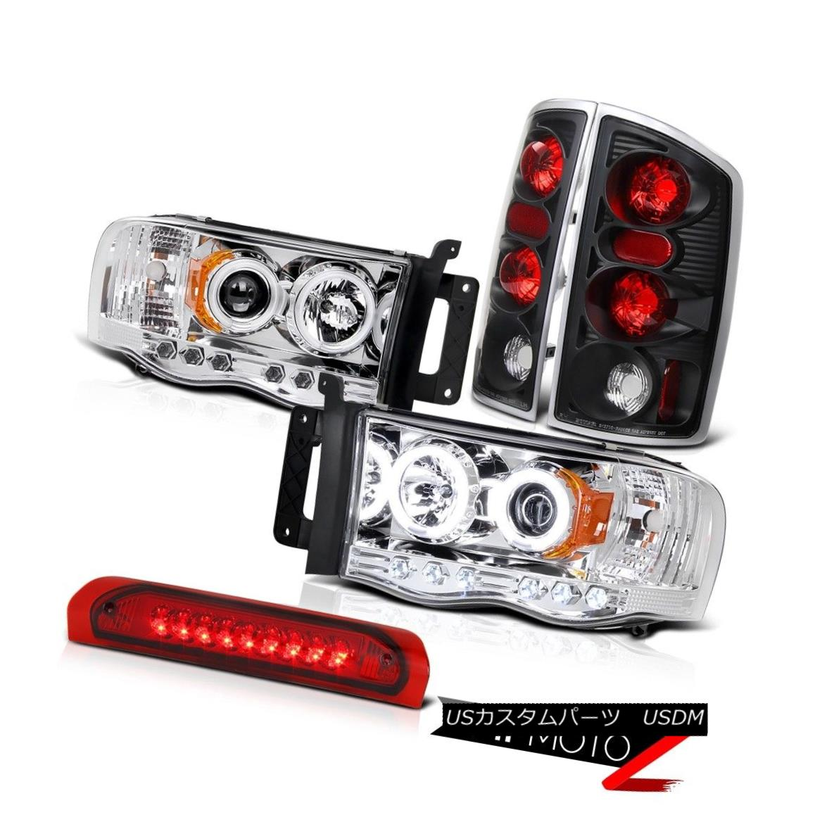 ヘッドライト Black Tail Light+CCFL Angel Eye Projector Headlight+3rd Brake Lamp RAM 02-05 ブラックテールライト+ CCFLエンジェルアイプロジェクターヘッドライト+ 3rdブレーキランプRAM 02-05