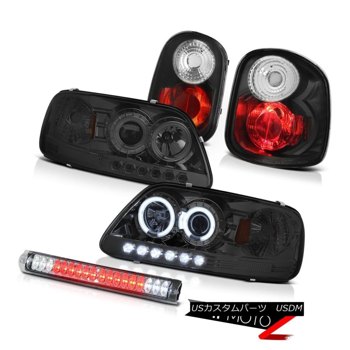 ヘッドライト [BRIGHTEST] CCFL Halo Headlights Tail Lights 1997-2000 F150 Flareside Hertiage [輝く] CCFL Haloヘッドライトテールライト1997-2000 F150 Flareside Heritage