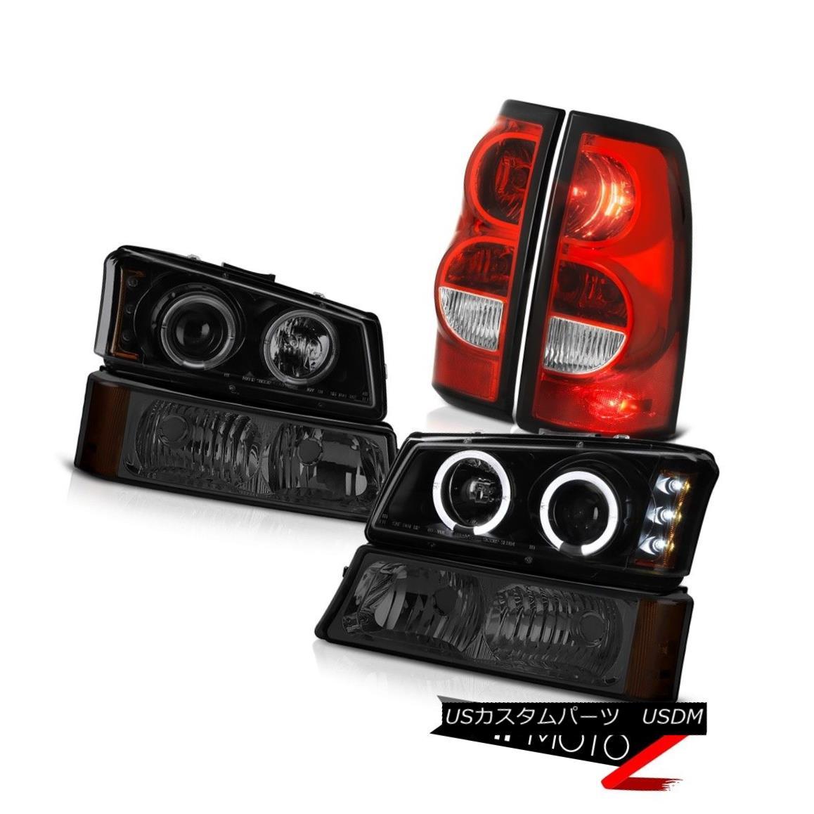 ヘッドライト 03-06 Silverado 3500Hd Tail Lights Phantom Smoke Parking Light Darkest Headlamps 03-06 Silverado 3500HdテールライトファントムスモークパーキングライトDarkest Headlamps