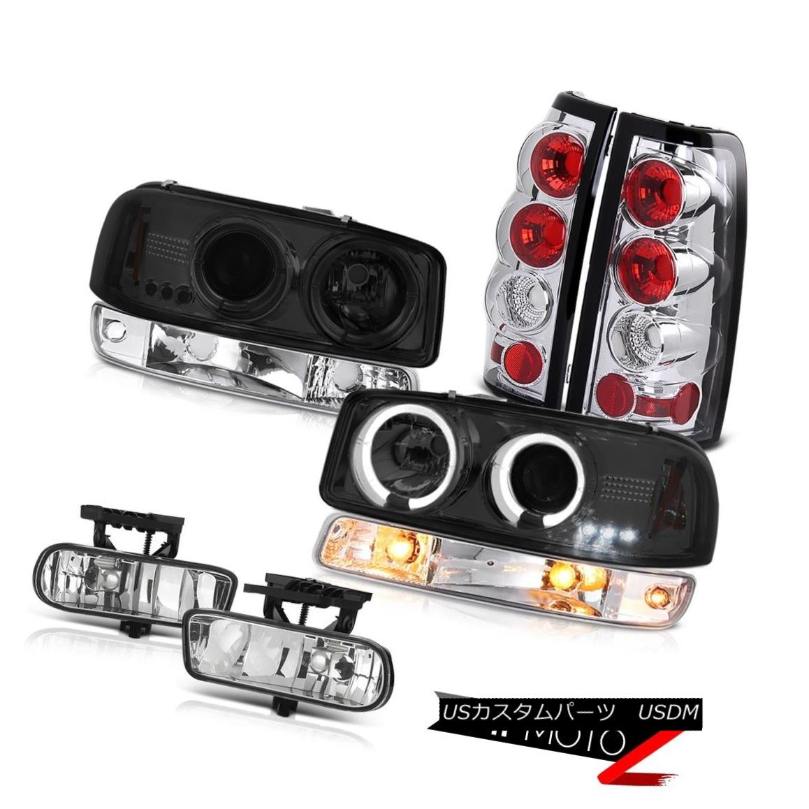 ヘッドライト 99-02 Sierra 5.3L Euro chrome fog lamps tail parking light projector Headlights 99-02シエラ5.3Lユーロクロームフォグランプテールパーキングライトプロジェクターヘッドライト