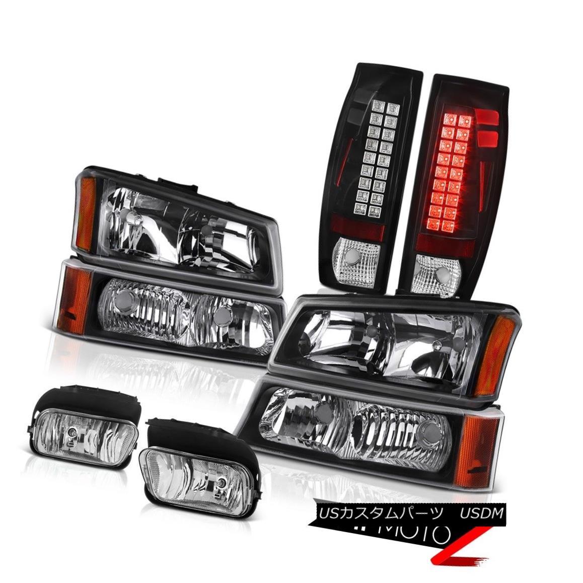 ヘッドライト 03-06 Avalanche 1500 Euro Clear Fog Lamps Infinity Black Tail Brake Headlamps 03-06雪崩1500ユーロクリアフォグランプインフィニティブラックテールブレーキヘッドランプ