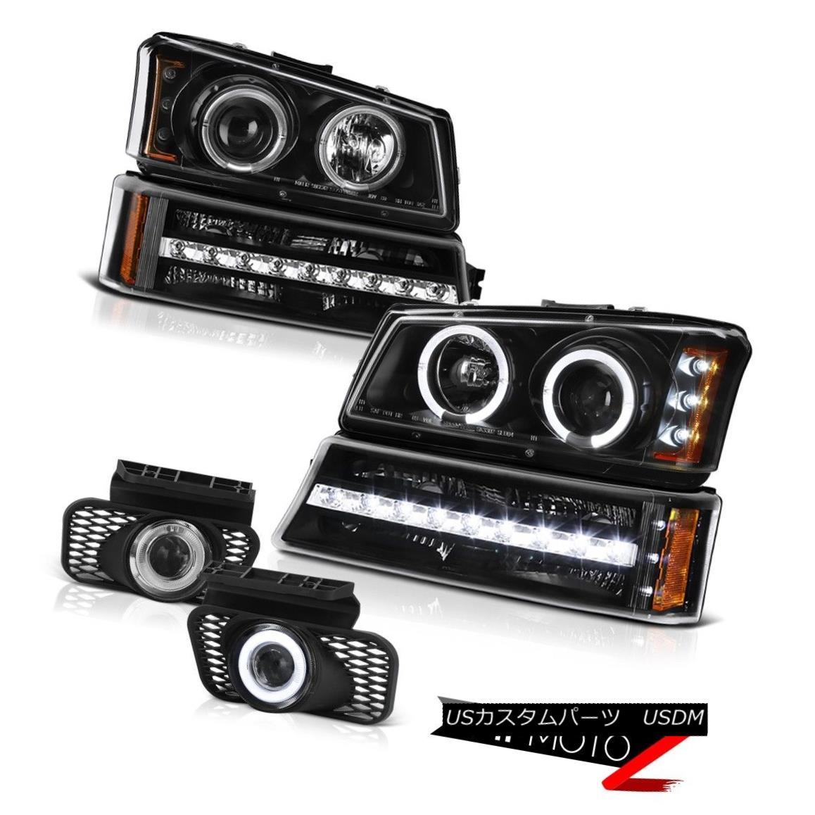 ヘッドライト 2003-2006 Avalanche 2500 Euro clear fog lights turn signal projector headlamps 2003-2006雪崩2500ユーロクリアフォグライトターンシグナルプロジェクターヘッドライト