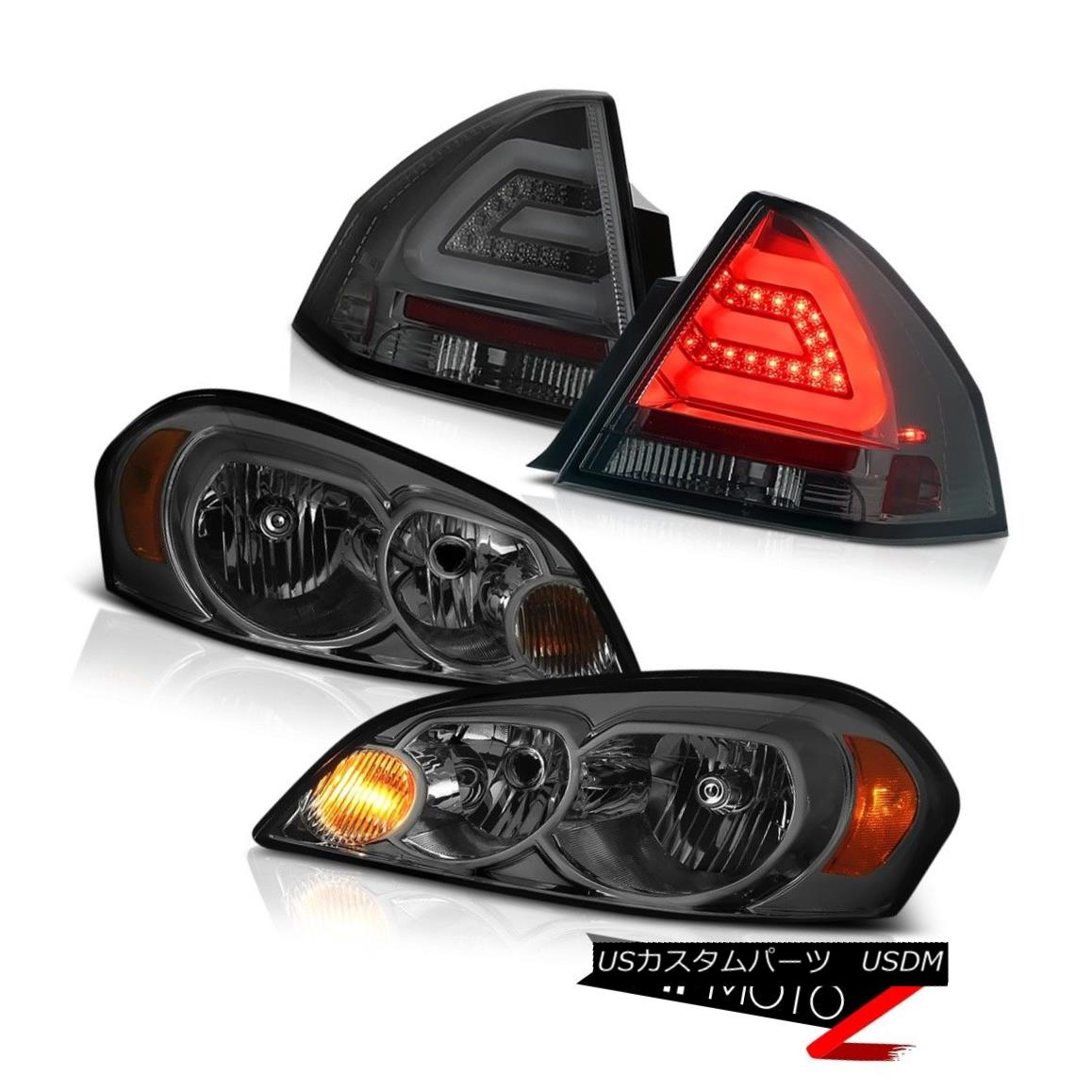 ヘッドライト 06-13 CHEVY IMPALA LT Smokey parking brake lights headlamps LED SMD