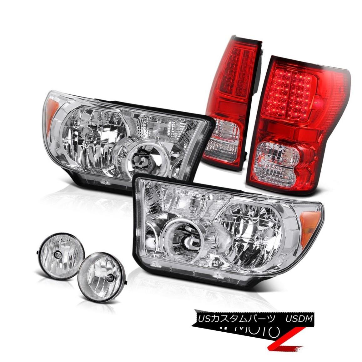 ヘッドライト 07-13 Toyota Tundra Clear L+R Replacement Headlamp+Led Tail Light+Fog Lamp 07-13トヨタトンドラクリアL + R交換ヘッドランプ+ Ledテールライト+フォグランプ