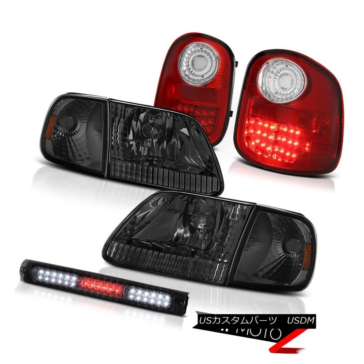 ヘッドライト Smoke Bumper Headlamps LED Taillight Tint 3rd Brake 1997-2003 F150 Flareside XLT スモークバンパーヘッドランプLEDテールライトティント第3ブレーキ1997-2003 F150 Flareside XLT