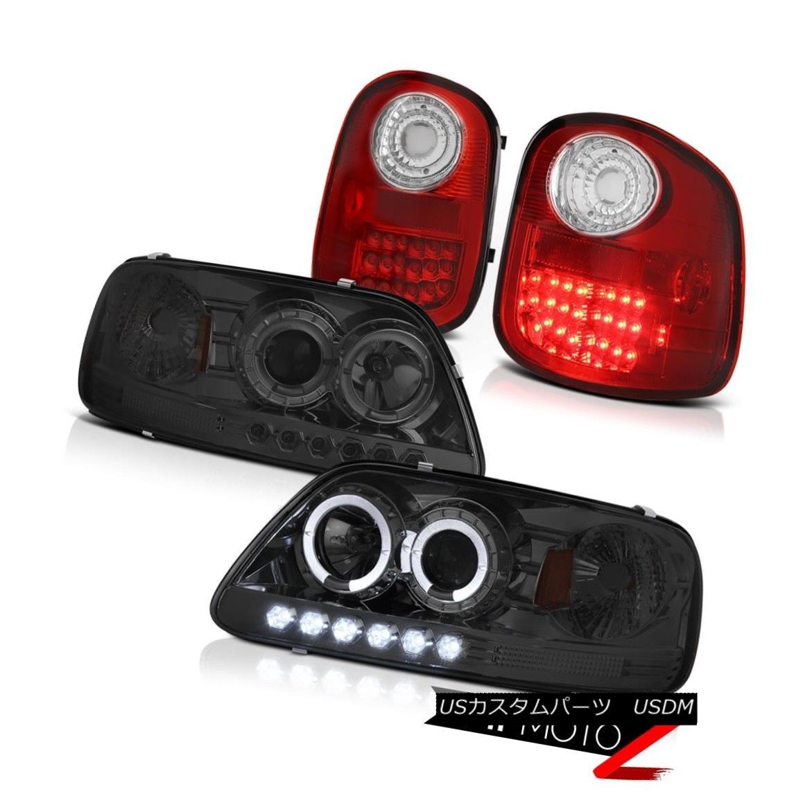 ヘッドライト Dark Halo Projector Headlights LED Taillamps 1997-2003 Ford F150 Flareside 4.6L ダークハロープロジェクターヘッドライトLEDタイルランプ1997-2003 Ford F150 Flareside 4.6L