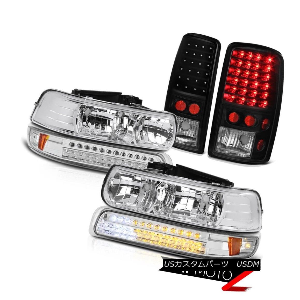 ヘッドライト 2000-2006 Chevy Tahoe Crystal Clear Headlamp SMD Chrome Parking Signal Taillight 2000-2006シボレータホクリスタルクリアヘッドランプSMDクロームパーキング信号尾灯