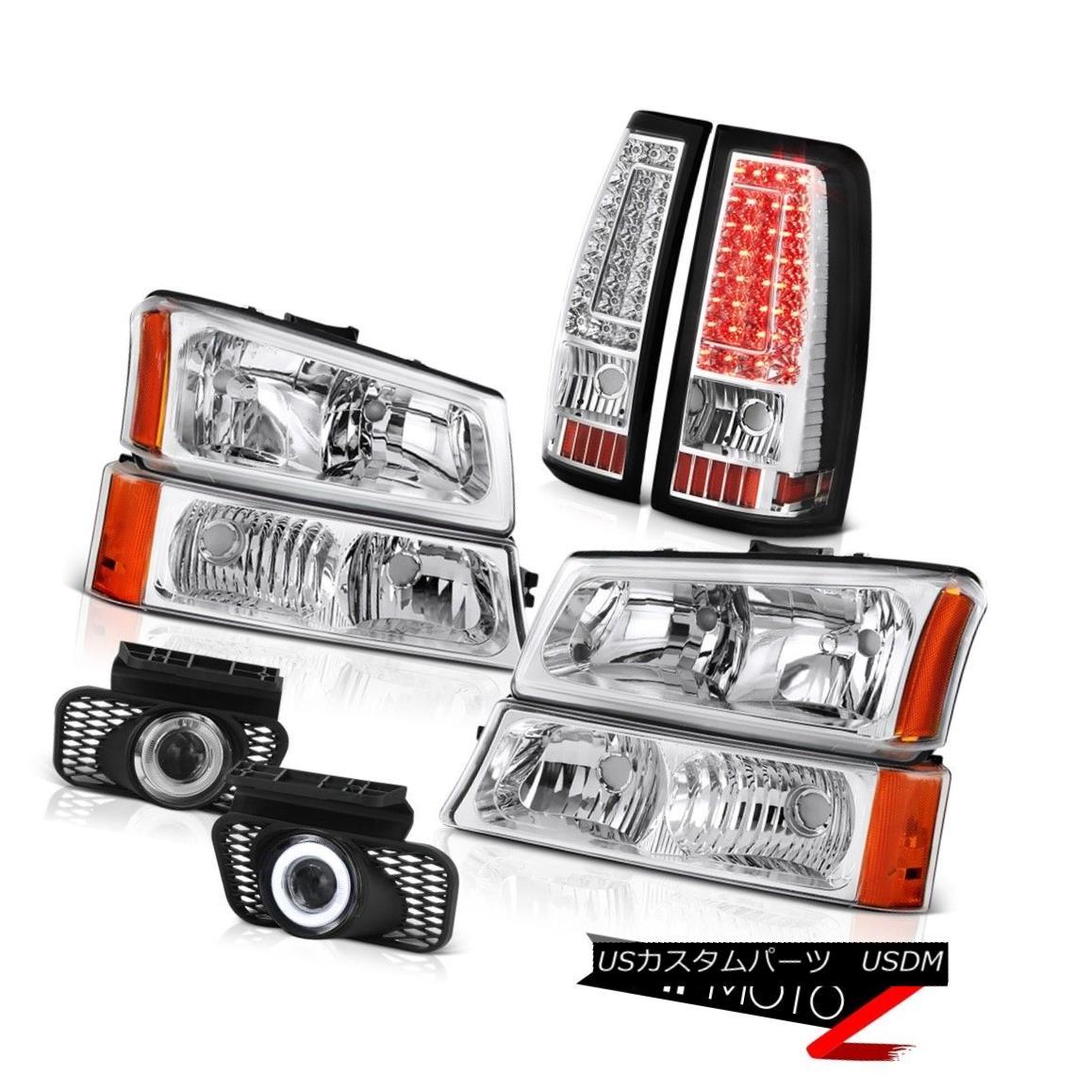 ヘッドライト 03-06 Silverado 2500Hd Fog Lights Parking Brake Headlamps LED SMD Factory Style 03-06 Silverado 2500HdフォグライトパーキングブレーキヘッドランプLED SMD Factory Style