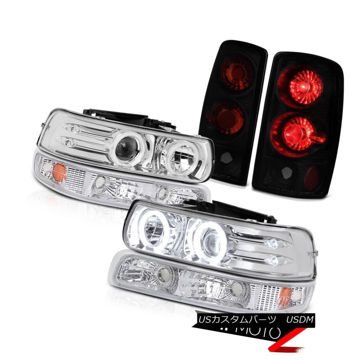 ヘッドライト C.C.F.L Rim Headlights Bumper Darkest Black Smoke Tail Light 00-06 Suburban 6.0L C.C.F.Lリムヘッドライトバンパーダークグレーブラックスモークテールライト00-06郊外6.0L