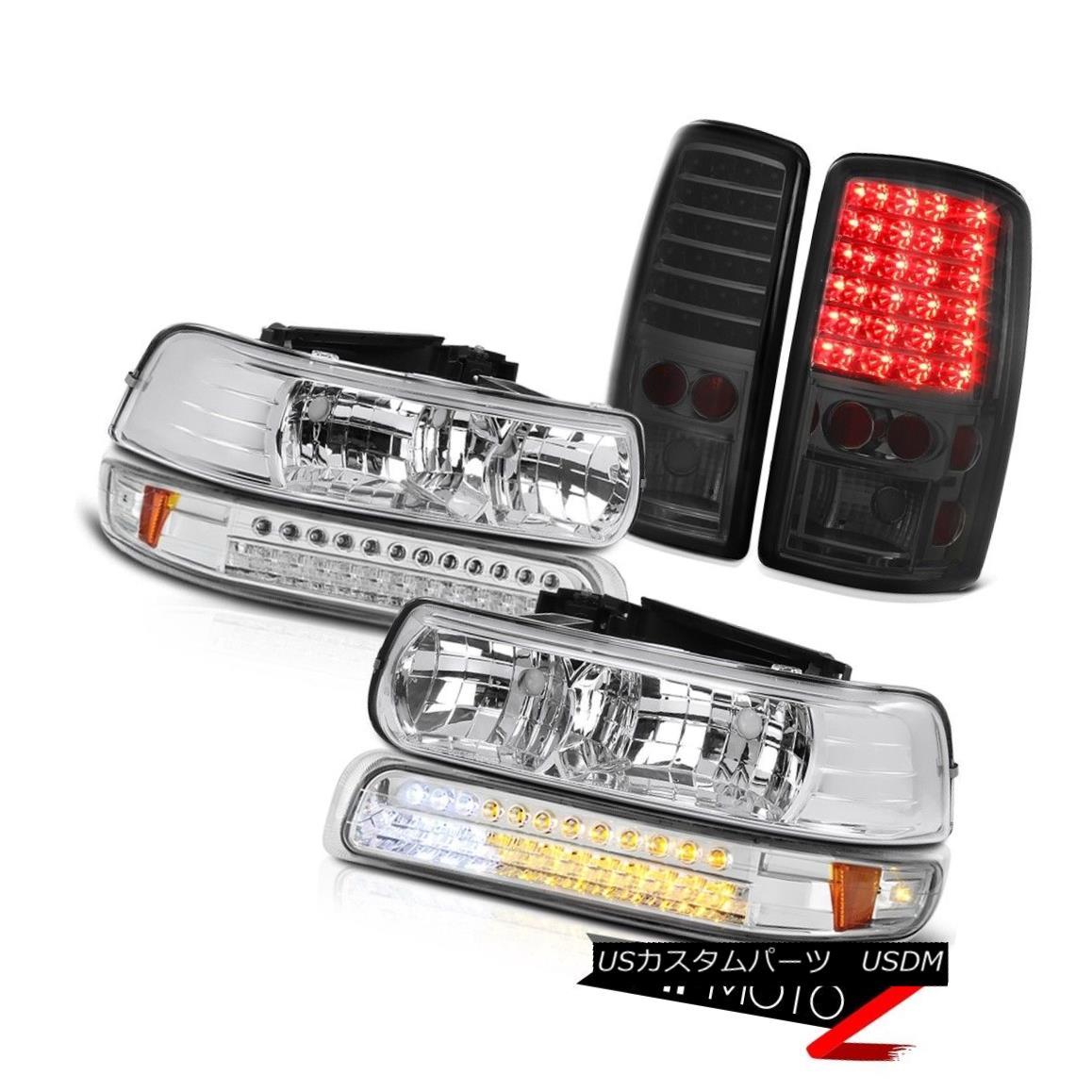 ヘッドライト 2000-2006 Chevy Suburban Crystal Headlights LED Chrome Bumper Smoke Taillights 2000-2006シボレー郊外のクリスタルヘッドライトLEDクロムバンパースモークティール