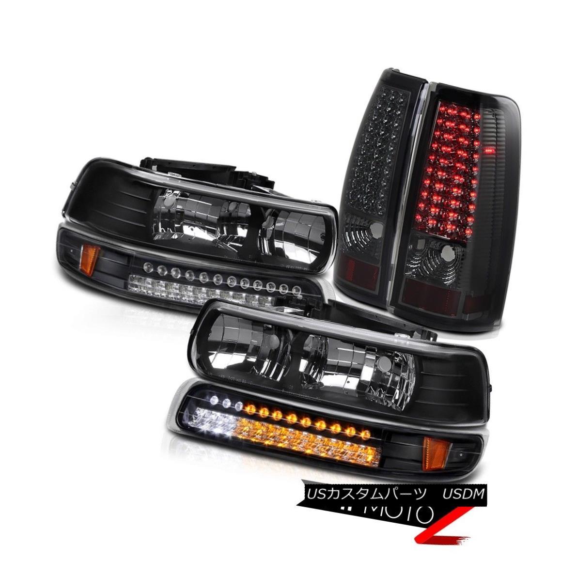 ヘッドライト GMT800 99-02 Silverado 1500/2500 {LED PARKING+SIGNAL} Headlight Tail Light Smoke GMT800 99-02 Silverado 1500/2500 {LEDパーク+信号 }ヘッドライトテールライトスモーク