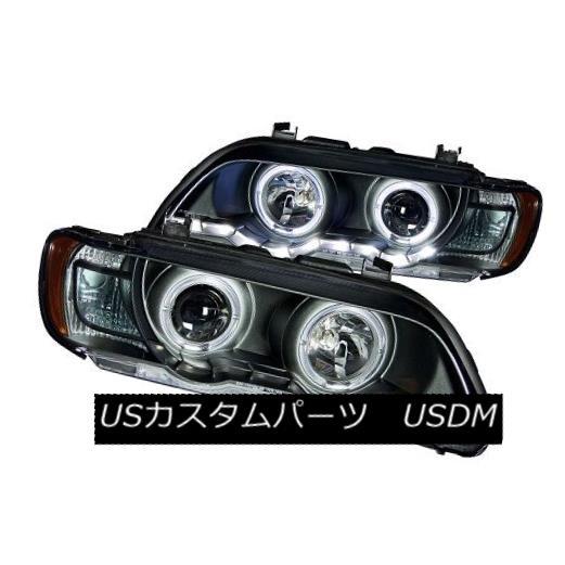 ヘッドライト ANZO 121398 Black Halogen Projector Headlights for 01-03 BMW X5 (Set of 2) ANZO 121398 01-03 BMW X5用ブラックハロゲンプロジェクターヘッドライト(2個セット)