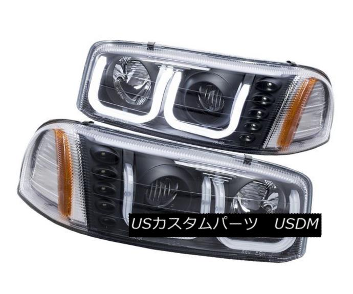 ヘッドライト Anzo 111303 Set of 2 Black U-Bar Projector Headlights for GMC Sierra/Yukon Anzo 111303 GMC Sierra / Yukon用ブラックU-Barプロジェクタヘッドライト2個セット