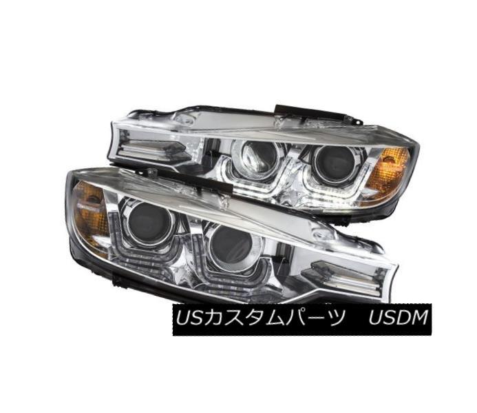 ヘッドライト Anzo 121505 Pair of Chrome U-Bar Projector Headlights for BMW 3 Series F30 4Dr Anzo 121505 BMW 3シリーズF30 4Dr用Chrome U-Barプロジェクタヘッドライト