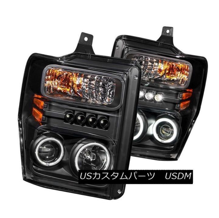 ヘッドライト ANZO 111168 Set of 2 Black CCFL Halo Projector Headlights for Ford Super Duty ANZO 111168フォードスーパーデューティー用の黒色CCFLハロープロジェクターヘッドライト2個セット