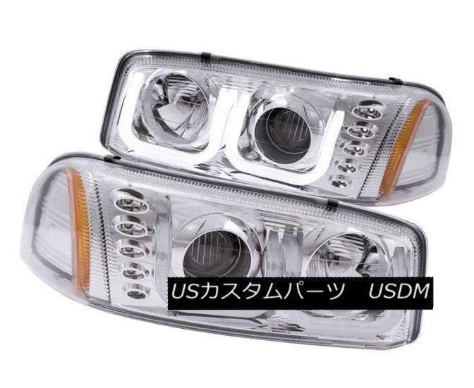 ヘッドライト Anzo 111304 Set of 2 Chrome U-Bar Projector Headlights for GMC Sierra/Yukon Anzo 111304 GMC Sierra / Yukon用クロームU-Barプロジェクターヘッドライトセット