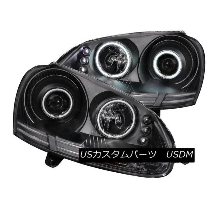 ヘッドライト ANZO 121345 Set of 2 Black CCFL Halo Projector Headlights for 06-09 VW Jetta/GTI ANZO 121345 06-09 VW Jetta / GTI用の黒色CCFLハロープロジェクターヘッドライト2個セット