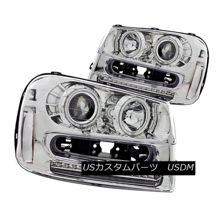 ヘッドライト ANZO 111131 Set of 2 Chrome CCFL Halo Projector Headlights for 02-09 Trailblazer ANZO 111131 02-09トレイルブレイカー用クロームCCFLハロープロジェクターヘッドライトセット
