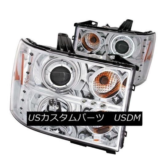 ヘッドライト ANZO 111126 Projector Headlights w/ Chrome Housing for GMC Sierra (Set of 2) ANZO 111126 GMC Sierra用クロムハウジング付きプロジェクターヘッドライト(2個セット)