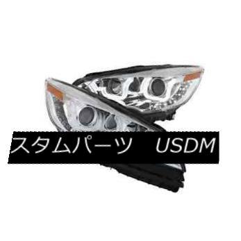 ヘッドライト Anzo 111325 Set of 2 Chrome U-Bar Style Projector Headlights for Ford Escape Anzo 111325フォード・エスケープ用クロームUバー・スタイル・プロジェクター・ヘッドライトのセット