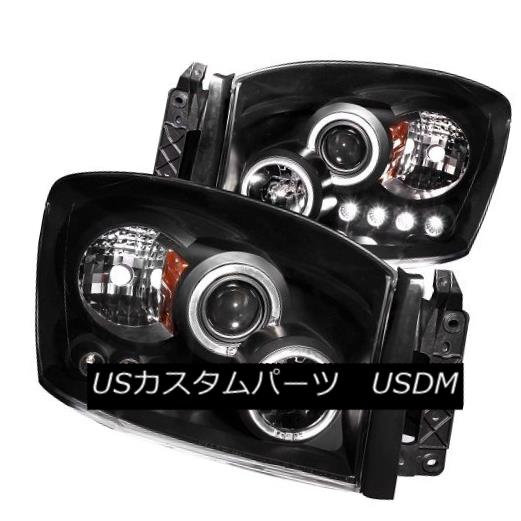 ヘッドライト ANZO 111209 Halogen Projector Headlights w/ Black Housing for Dodge Ram Set of 2 ANZO 111209ダッジラム用ブラックハウジング付きハロゲンプロジェクターヘッドライト2個セット