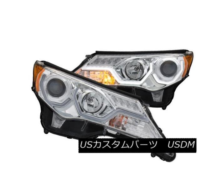 ヘッドライト Anzo 111333 Pair of Plank Style Chrome Clear Projector Headlights for Rav4 Anzo 111333 Rav4用の板状のクロームクリアプロジェクターヘッドライトのペア