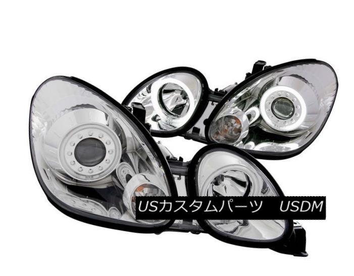 ヘッドライト ANZO 121143 Set of 2 Chrome CCFL Halo Projector Headlights for Lexus GS 300/400 ANZO 121143 Lexus GS 300/400用クロームCCFLハロープロジェクターヘッドライト2個セット