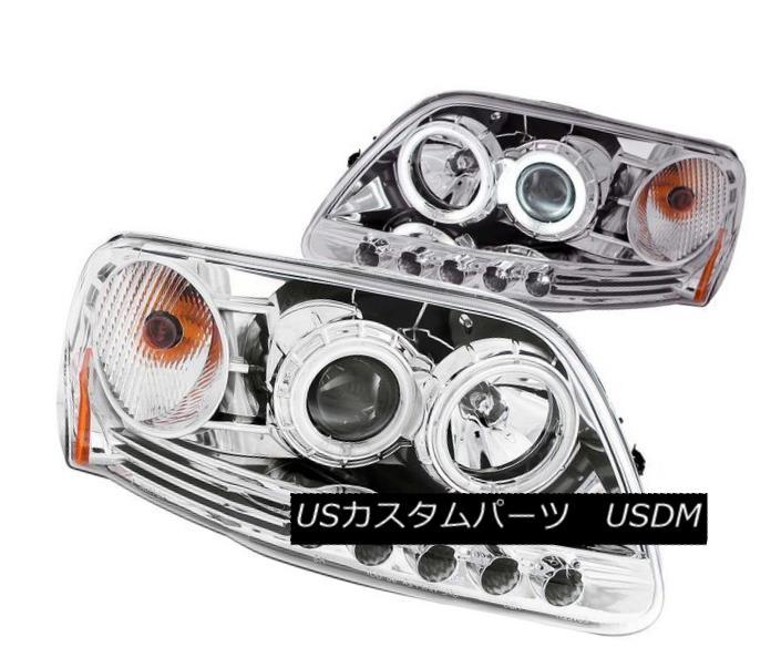 ヘッドライト ANZO 111054 Set of 2 Chrome CCFL Halo Projector Headlights for F-150/Expedition ANZO 111054 F-150 / Expediti用の2つのクロームCCFLハロープロジェクターヘッドライトセット on