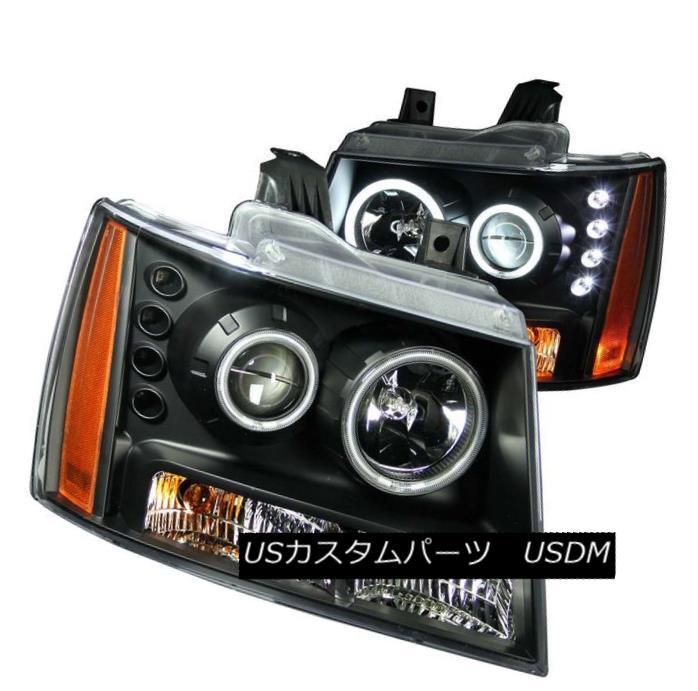 ヘッドライト ANZO 111109 Set of 2 Black CCFL Halo Projector Headlights for Suburban/Tahoe ANZO 111109郊外/タホ用の黒色CCFLハロープロジェクターヘッドライト2個のセット